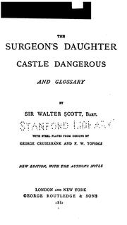 The Surgeon's Daughter: Castle Dangerous and Glossary PDF