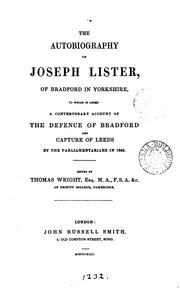 The autobiography of Joseph Lister, to which is added a contemporary account of the defence of .. PDF