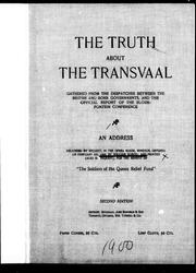 The truth about the Transvaal by Robins, William