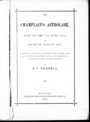 On Champlain's astrolabe by A. J. Russell