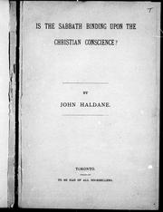 Is the Sabbath binding upon the Christian conscience? PDF