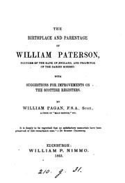 The birthplace and parentage of William Paterson. With suggestions for improvements on the .. PDF