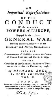 AN IMPARTIAL REPRESENTATION OF THE CONDUCT OF THE SEVERAL POWERS OF EUROPE, ENGAGED IN THE LATE .. PDF