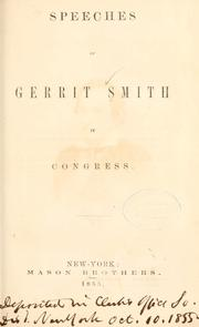 Speeches of Gerrit Smith in Congress [1853-1854] by Smith, Gerrit