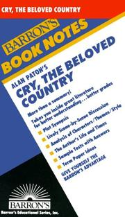 Alan Paton's Cry, the beloved country by Rose Kam