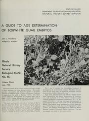 A guide to age determination of bobwhite quail embryos by John L. Roseberry
