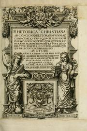 Cover of: Rhetorica christiana by Diego Valadés