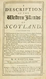 A description of the Western Islands of Scotland by Martin Martin