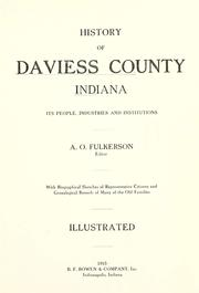 History of Daviess County, Indiana by