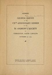 Address at the 175th anniversary dinner of the St. Andrew's society of Charleston, South Carolina, November 30, 1904 PDF