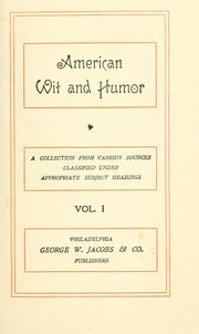Cover of: Humor