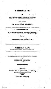 Narrative of the Most Remarkable Events which Occurred in and Near Leipzig .. PDF