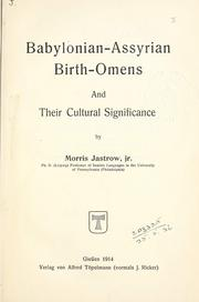 Babylonian Assyrian Birth Omens by Morris Jastrow Jr.