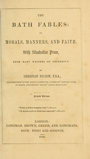 The Bath fables on morals, manners and faith PDF