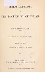 Biblical commentary on the prophecies of Isaiah by Franz Julius Delitzsch