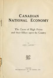 Canadian national economy by James John Harpell