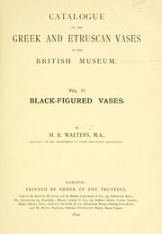A catalogue of the Greek and Etruscan vases in the British Museum PDF