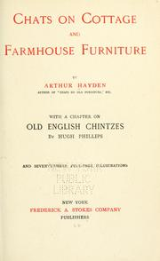 Chats on cottage and farmhouse furniture by Arthur Hayden
