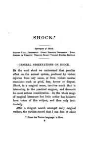A practical treatise on shock after surgical operations and injuries: with especial reference to .. PDF