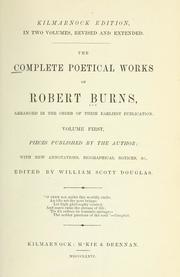 Cover of: The complete poetical works of Robert Burns by Robert Burns