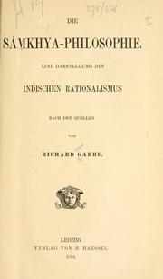 Die Smkhya-Philosophie by Richard Garbe