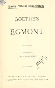 Egmont by John Leonard Greenberg
