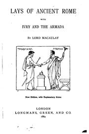 Cover of: Lays of ancient Rome by Macaulay, Rose, Dame.