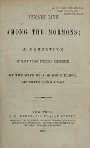 Female life among the Mormons PDF
