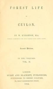 Forest life in Ceylon.