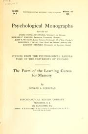 The form of the learning curves for memory PDF