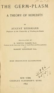 Keimplasma by August Weismann