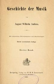 Geschichte der Musik by August Wilhelm Ambros