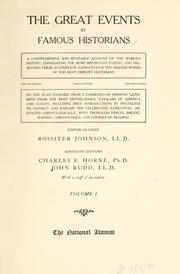The great events by famous historians by Horne, Charles F.