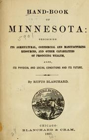 Cover of: Hand-book of Minnesota by Blanchard, Rufus