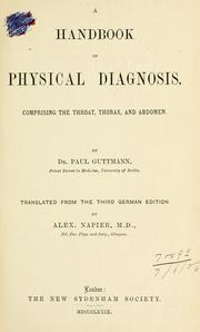 A handbook of physical diagnosis by Paul Guttmann