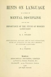 Hints on language as a means of mental discipline and on the importance of the study of modern languages PDF