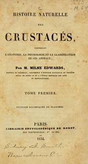 Histoire naturelle des crustacs by Henri Milne-Edwards