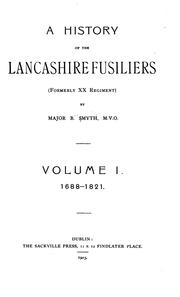 A History of the Lancashire Fusiliers (formerly XX Regiment) PDF