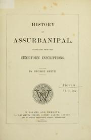 History of Assurbanipal by Smith, George