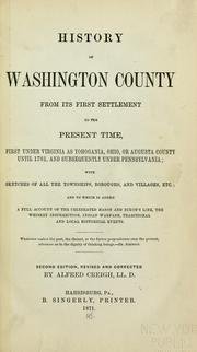 History of Washington County by Alfred Creigh