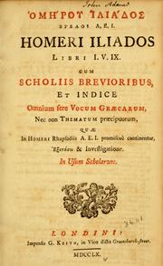 Cover of: Homerou Iliados, vivloi A, E, I = by Homer