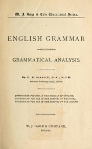 English grammar by C. P. Mason