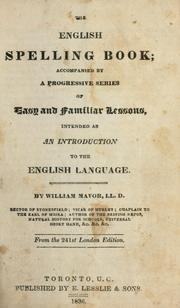 The English spelling-book by William Fordyce Mavor