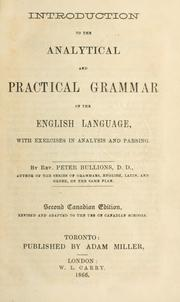 Introduction to the analytical and practical grammar of the English language by Peter Bullions