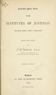 Institutiones by Justinian I, the Great, Emperor of Byzantine