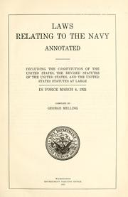 Laws relating to the Navy, annotated by United States