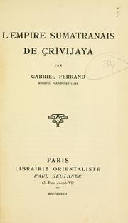 L' empire sumatranais de Crivijaya PDF