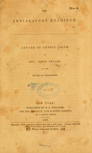 Letter of Gerrit Smith to Rev. James Smylie, of the state of Mississippi by Smith, Gerrit