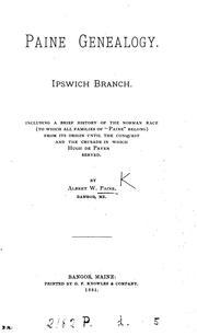 Paine genealogy, Ipswich branch PDF