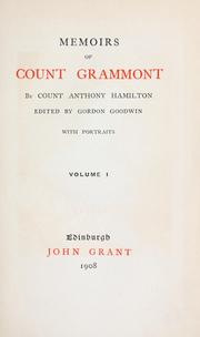 Memoirs of Count Grammont by Hamilton, Anthony Count